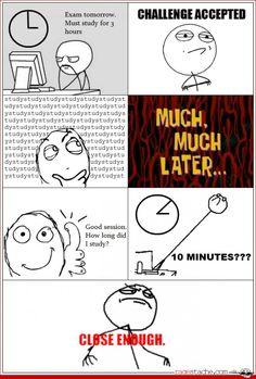 Cramming hard or hardly cramming? I DO IT :P