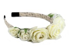 Couronne de fleurs blanches Head Band, Barrettes, Accessories, Html, Sign, White Hair, Shirt Hair, White Flower Crown, Signs