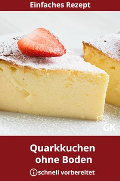 Käse-Quark-Blitz-Torte - New ideas Easy Cheesecake Recipes, Easy Cookie Recipes, Cupcake Recipes, Snack Recipes, New Cake, Sugar Cookies Recipe, Fall Desserts, Savoury Cake, Ice Cream Recipes