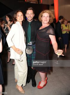 17 July 2014   Richard Rankin with The Crimson Field co-star Alice St. Clair and writer Sarah Phelps at the reopening of the Imperial War Museum, London