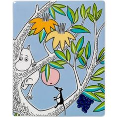 Moomin decoration tree from Arabia by Tove Jansson, Tove Slotte Moomin Cartoon, Moomin Shop, Moomin Valley, Tove Jansson, Unique Trees, Kids Lighting, Puzzle, Cute Characters, Tree Wall