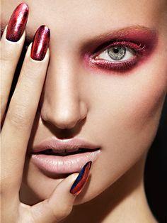 Beauty Photographer: Darren Tieste Makeup: Iris Moreau Manicure: Jenna Hipp #nails #makeup #beauty