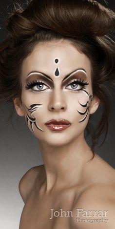 Magika Makeup by natalie georgiou, via Behance