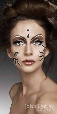 Magika Makeup by natalie georgiou, via Behance