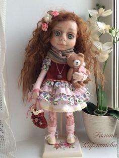 Купить Войлочная кукла Аврора - кукла ручной работы, кукла войлочная, кукла валяная
