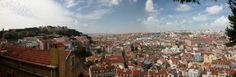 View out over Lisbon from the Miradouro de Santa Graca