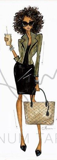 Anum Tariq fashion illustration