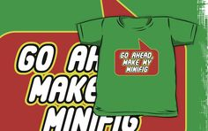 Go Ahead, Make My Minifig T-shirt by Bubble-Tees.com by Bubble-Tees