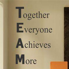 Definición de equipo de pared de vinilo por WallsThatTalk en Etsy