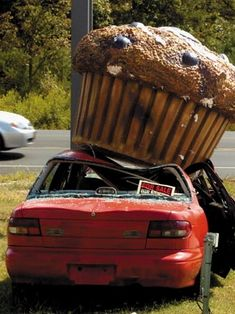 Curse the Muffin Man! Roadside Attractions, Lol, Outdoor Art, Dessert, Public Art, Installation Art, Muffins, Cool Stuff, Funny Stuff