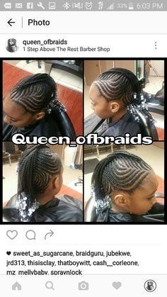 Mohawk mohawks clear white black beads long natural pretty beautiful hair hairstyles cute love braids braiding detroit little black girls pink blue pretty small long