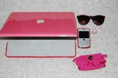 #pink #laptop #purse #BlackBerry #sunglasses #chilling #mine