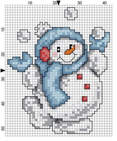 Your marketplace to buy and sell handmade items. - Boneco de Neve Natal more - Cross Stitch Christmas Ornaments, Xmas Cross Stitch, Cross Stitch Cards, Christmas Embroidery, Cross Stitching, Christmas Afghan, Christmas Minis, Crochet Christmas, Snowman Cross Stitch Pattern