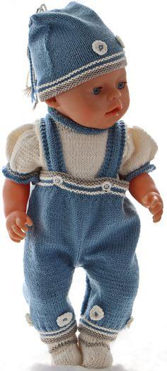 Dukke-strikk til Baby born