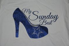 Dallas Cowboys Glitter T shirt by TinasCustomTees on Etsy, $23.00