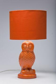 Table Lamp Eule Orange by KARE Design #KARE #KAREDesign #Lamp #Owl
