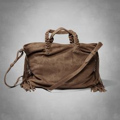 Suede Fringe Tote   Womens New Arrivals   Abercrombie.com