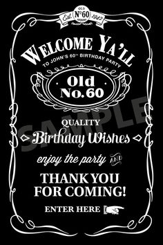 Southern Style Birthday Poster  Personalized  by LizBasseyStudios