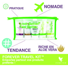 Forever Travel Kit Ref. Aloe Vera, Lotion, Forever Travel, Forever Business, Forever Aloe, Jojoba, Forever Living Products, Hygiene, Travel Kits