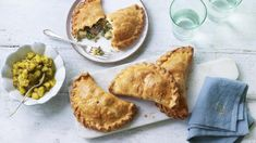 Nadiya Husain - BBC Food - Recipes - Lamb and mint pasties with quick apple pickle Nadiya Hussain Recipes, Quiche, Pickle Vodka, Tacos, Homemade Pickles, Baked Apples, It Goes On, Recipe Using, Picnic