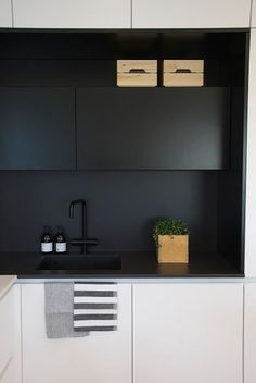 Who else loves this modern matte counter top and cabinets? Get yours today with FENIX NTM: http://buff.ly/2mE7xHn?utm_content=buffer84644&utm_medium=social&utm_source=pinterest.com&utm_campaign=buffer