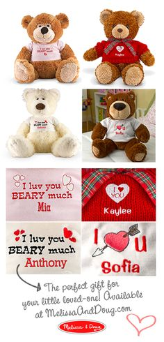 Personalized bears for your little Valentine <3