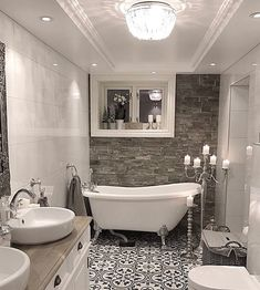 Looking for bathroom decor ideas that look like a magazine cover but are still affordable? Check out these 30 unique bathroom decor ideas for inspiration! Beautiful Small Bathrooms, Romantic Bathrooms, Amazing Bathrooms, Modern Bathrooms, Bad Inspiration, Bathroom Inspiration, Bathroom Ideas, Bathroom Organization, Budget Bathroom