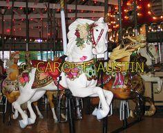 Carousel Horse Merry-Go-Round Amusement Park Theme - Stock Photo