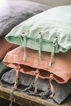 old linnen pillow pastel colors, #spring #pastel #pillow #textile