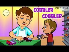 #CobblerCobbler, my shoes is torn! :( Please mend it so I can play #nurseryrhymes #kids