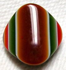 COOL VINTAGE LEA STEIN RHODOID BUTTON - CARAMEL-OLIVE-RED-BLACK+BROWN LAMINATES