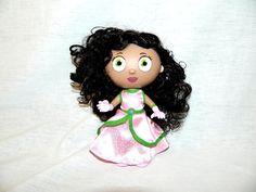 "2009 Super Why PBS SHOW 6"" Princess Pea P Presto Action Figure Doll #OOTB"