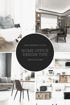 A unique perk that working from home offers is a feeling of coziness and individuality that a typical corporate office lacks, so why not lean into it? Here are 5 design tips to help you create a happier home office! #interiordesign #interiors #interiorstyling #homedesign #homestyling #homedecor #dreamhome #livingspaces #interiordecorating #homeoffice Home Office Space, Home Office Design, Home Office Decor, Diy Home Decor, Office Inspo, Office Ideas, Office Organisation, Organization, Desks For Small Spaces