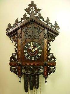 Cuckoo clock- this one is a real beauty!!: