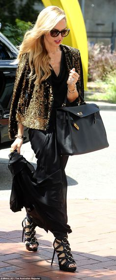 Business time: Celebrity stylist Rachel Zoe headed to the Sydney Business Chicks lunch on ...