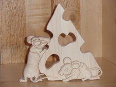 animali di legno - Topi con formaggio