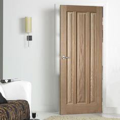 Door Set Kit, Kilburn 3 Panelled Oak Door. #oakdoorsetkit #oakpanelleddoor #oakdoor