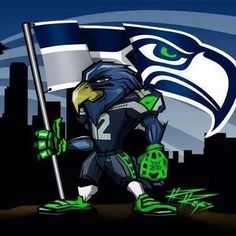 Awesome drawing by a fellow 12! Go Hawks!