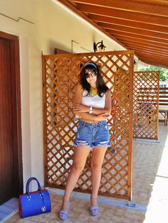 ASfashionlovers: Navy Style Navy Style, My Outfit, Denim Skirt, Mini Skirts, Posts, Blog, Outfits, Fashion, Moda