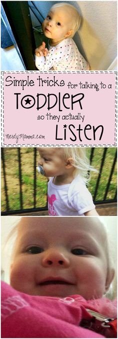 I ABSOLUTELY love these simple tricks for talking to a toddler so they actually listen...I mean, so easy, but GENIUS!