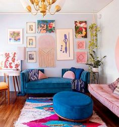 This cool California rental is bursting with color and DIY inspiration. decor inspiration A Cool California Rental Is Bursting with Color and DIY Inspiration Decor, Home Decor Inspiration, Interior, Home Decor, Room Inspiration, Colourful Living Room, House Interior, Apartment Decor, Interior Design