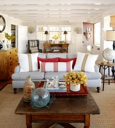 Spotted from the crow's nest: Beach House Tour- Coastal cottage gem Our Boathouse Blog