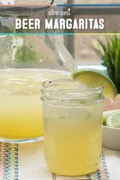 Beer Margaritas | :This is my favorite margarita! It's not too sour, not too sweet. It's the perfect mix! Our friends LOVE it too!""