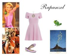 """""""Modern Rapunzel"""" by we-are-walt-disney ❤ liked on Polyvore featuring AX Paris, Disney, J.Crew, modern, disney, princess and tangled"""