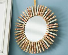 How to make a mirror with clothespins