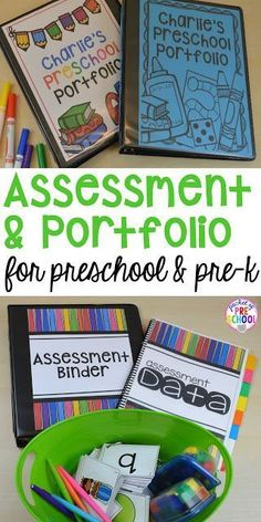 Make assessments & portfolios easy and manageable! Just print assess record and file! Perfect for preschool pre-k and kindergarten. Preschool Assessment, Preschool Lessons, Preschool Kindergarten, Preschool Ideas, Preschool Teachers, Beginning Of School, Pre School, Middle School, High School