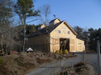 specializing in elegant and artistic barns using a modified post and beam structure and timber frame Barn Builders, Beam Structure, Post And Beam, Modern Barn, Cabin, Elegant, House Styles, Massachusetts, Barns