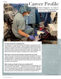 Career Profile: Perfusionist // Holl & Lane: Issue 1 June / July 2015