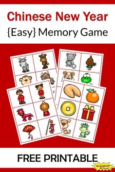 Help your child better understand Chinese New Year with this easy memory game. It includes 24 pictures all related to the holiday. Chinese New Year Crafts For Kids, Chinese New Year Activities, Chinese Crafts, New Years Activities, Chinese New Year 2020, Math Activities For Toddlers, Free Preschool, Preschool Activities, New Year Printables