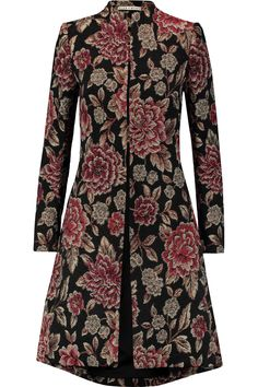ALICE + OLIVIA XIA METALLIC FLORAL-JACQUARD COAT £425 http://www.theoutnet.com/product/721018